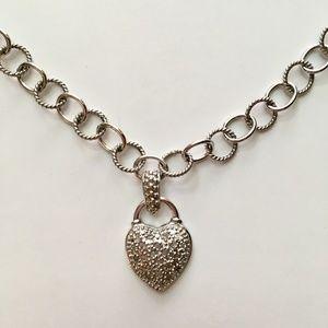 Jewelry - Sterling Silver Heart Lock Necklace